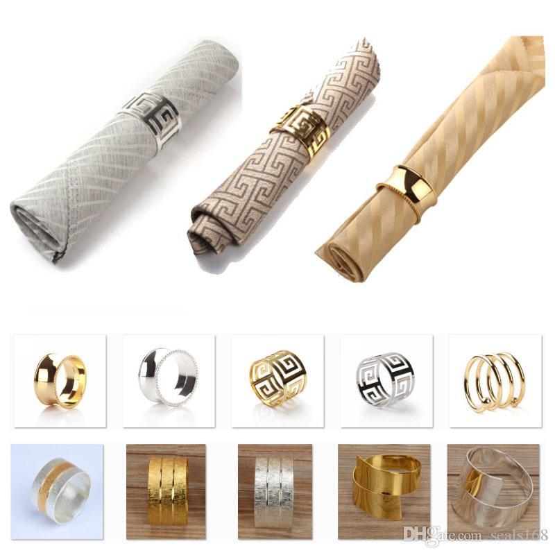 Boda anillos de la servilleta titulares de metal de la servilleta para cenas Partes boda del hotel de decoración de la tabla Suministros Diámetro DHL HH9-2656