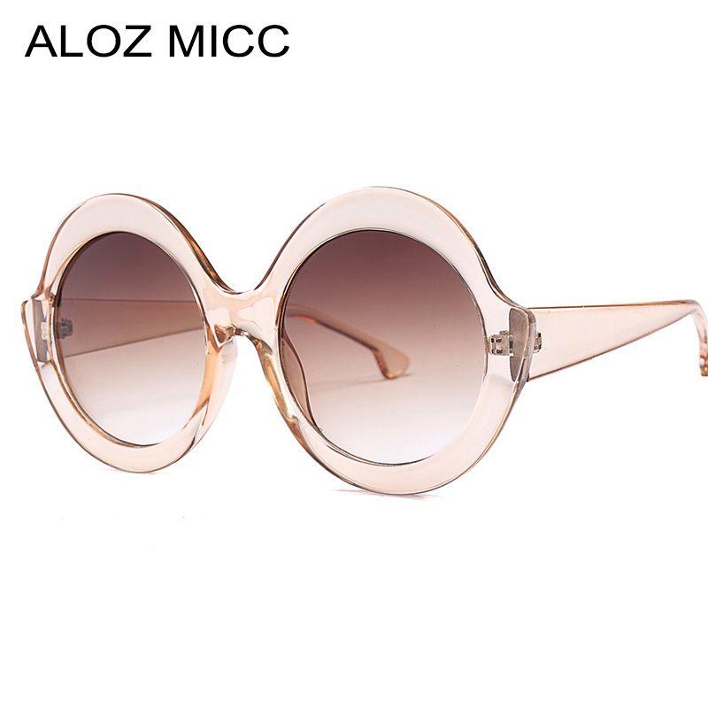 ALOZ MICC 2019 새로운 여성 대형 라운드 선글라스 브랜드 디자이너 패션 고양이 눈 태양 안경 여성 빈티지 안경 UV400 A648