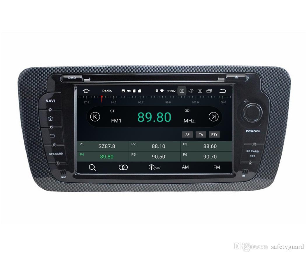 "Android 8.0 Octa Core 2 din 7"" Car DVD Player GPS for Seat Ibiza 2009-2014 RDS Radio Bluetooth WIFI USB DVR 4GB RAM 64GB ROM"