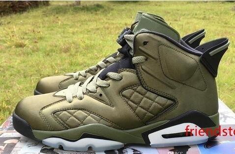 مصمم Jumpman رجل جديد 6 رخيصة الرجال 6S الطيران سترات بيناكل ليلة السبت لايف أحذية كرة السلة أحذية رياضية 6S جيش النايلون الأخضر