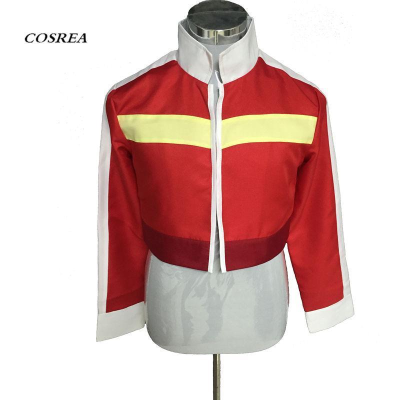 COSREA animado Voltron: Defender cosplay traje legendario Keith Red Jacket de Halloween Mujer Hombre Top capa del equipo