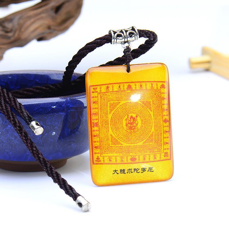 New sell Crystal Kaiguang Shurangama Mantra Pendant as Amulet Necklace Buddhist Pendant Buddha Brand Big Pursuit Mantra 50pcs per lot