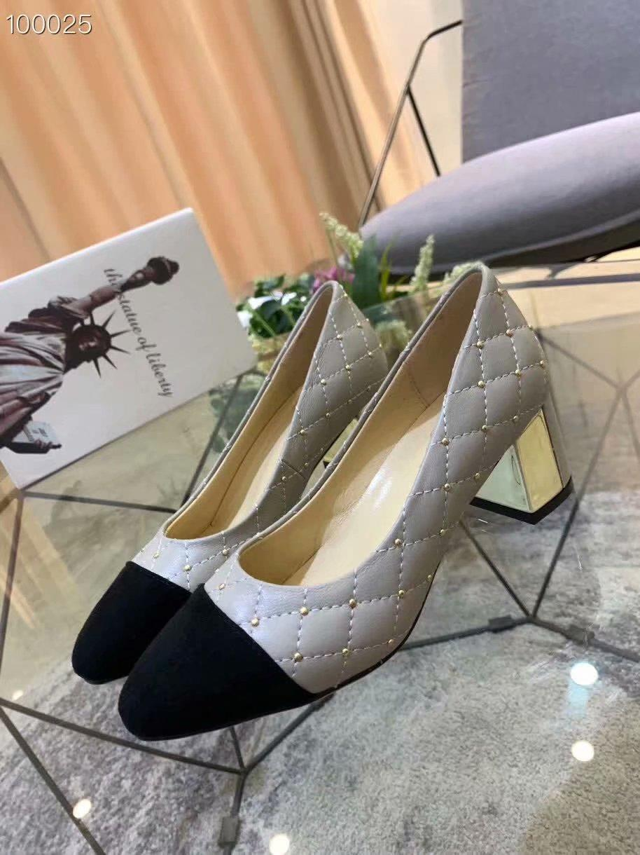 женская кожаная мода дрес туфли на каблуках осень лето дамы свадебный стад дизайн обуви патч цвет женский слип на мулах ну вечеринку обувь mujers