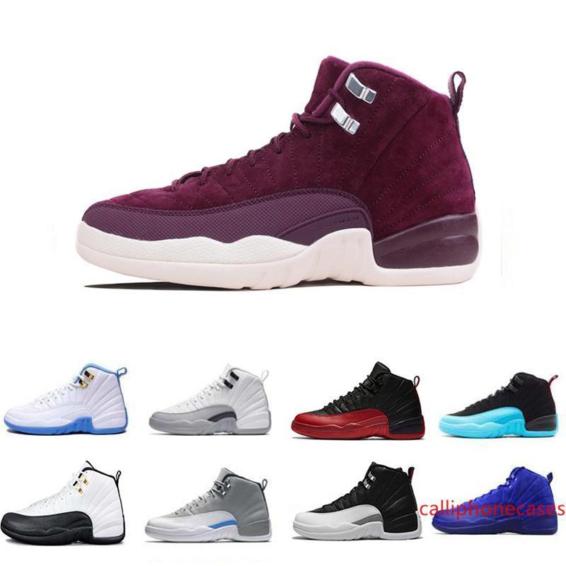Nueva Michigan 12 12s zapatos para hombre de baloncesto de los hombres de 12 años caliente blanco gris oscuro Gimnasio Rojo Taxi Armada Colegio Juego de la gripe Deportes las zapatillas de deporte