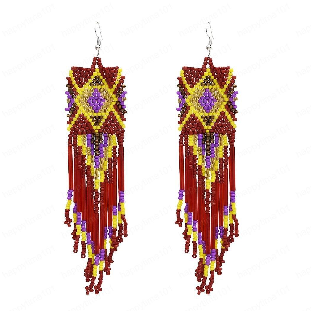 5 colori nappa lunga ciondola goccia in rilievo orecchini multistrato Orecchini per la sposa gioielli regalo San Valentino