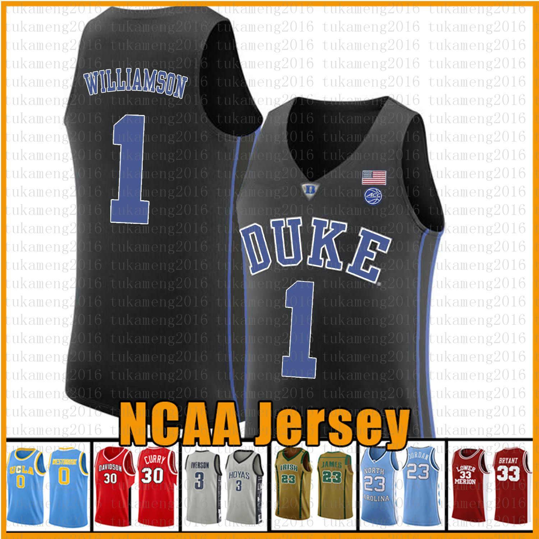 Mens Zion 1 Williamson Duke Blue Devils NCAA Colégio Basquete Jersey Cam 2 Reddish RJ 5 Barrett Christian 32 Laettner J.J 4 Redick CWXEDFD