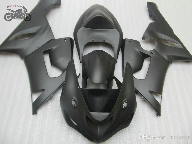 Kawasaki Ninja ZX-6R 2005 2006 ZX6R 636 05 06 Matte Blackアフターマーケットフェアリングセット