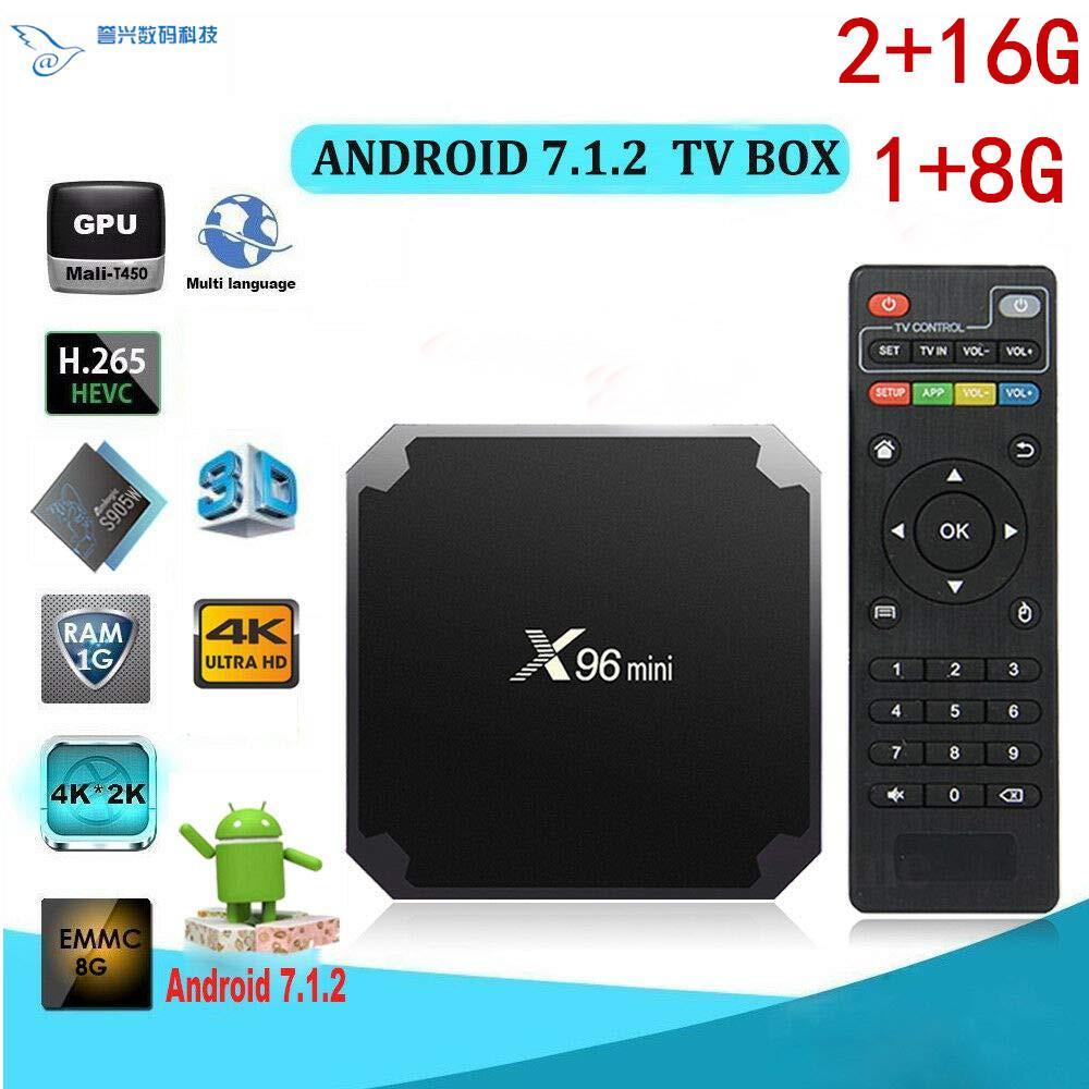 الاتحاد الأوروبي معفاة من الضرائب [الأصلية] X96 MINI الروبوت مربع التلفزيون 7.1 AMLogic نوع S905W رباعية النواة 1GB / 8GB 2GB / 16GB صناديق التلفزيون TV الذكية