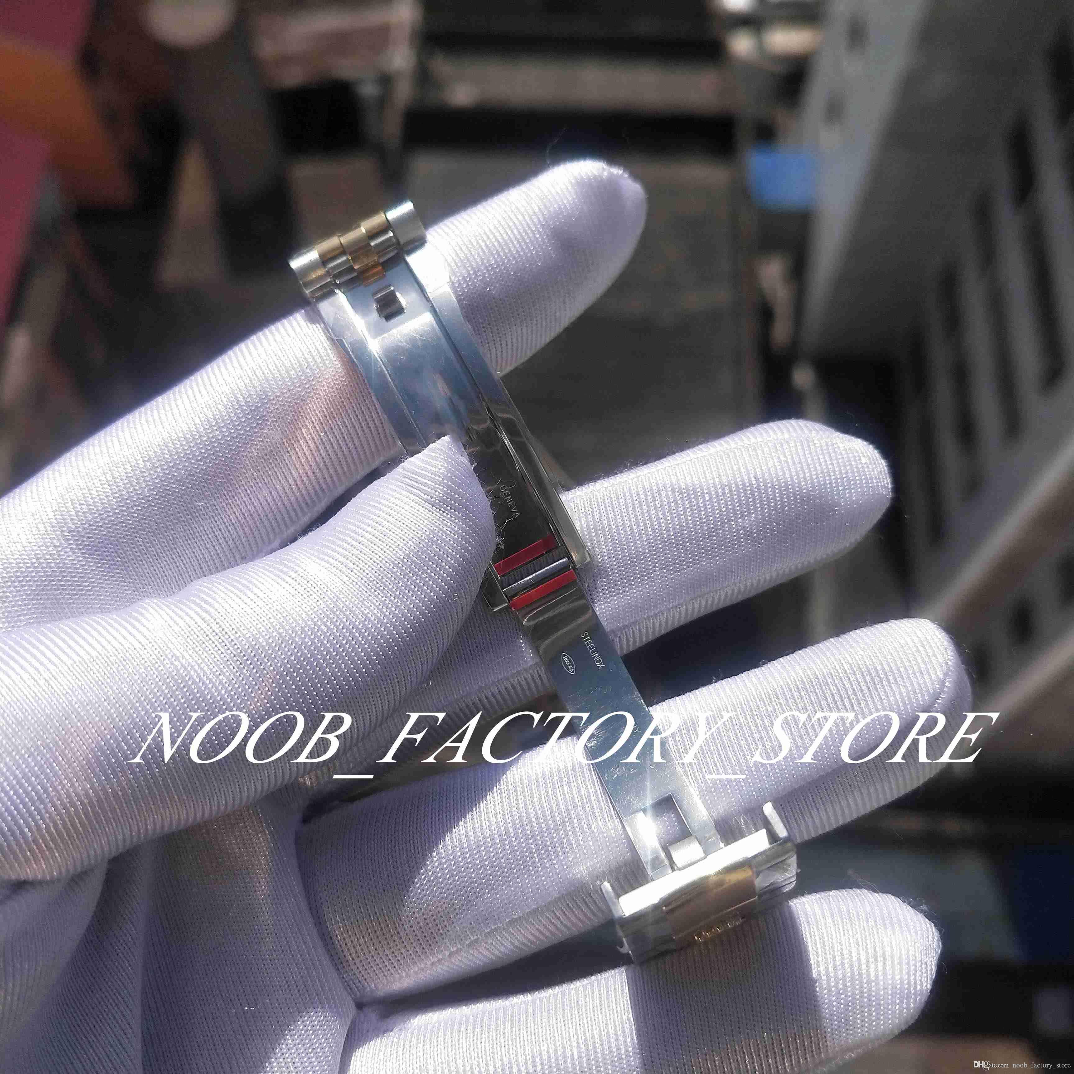 Mouvement Factory 2813 126333 Super Super Bicolor Nouveau Cadran noir 41mm V2 Sapphire BP BP Bracelet automatique Mens Diving Montres Mrkve