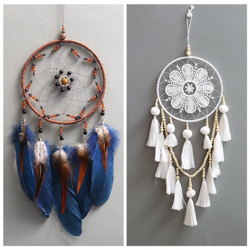 Coloré Dreamcatcher main Wind Chimes Hanging Pendentif Dream Catcher Accueil Wall Art Tentures Décorations