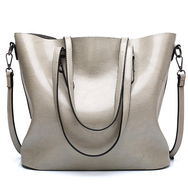 Bolsos monederos manera de las mujeres bolsos de hombro de cuero de gran capacidad de asas casual de alta calidad de diseño de lujo