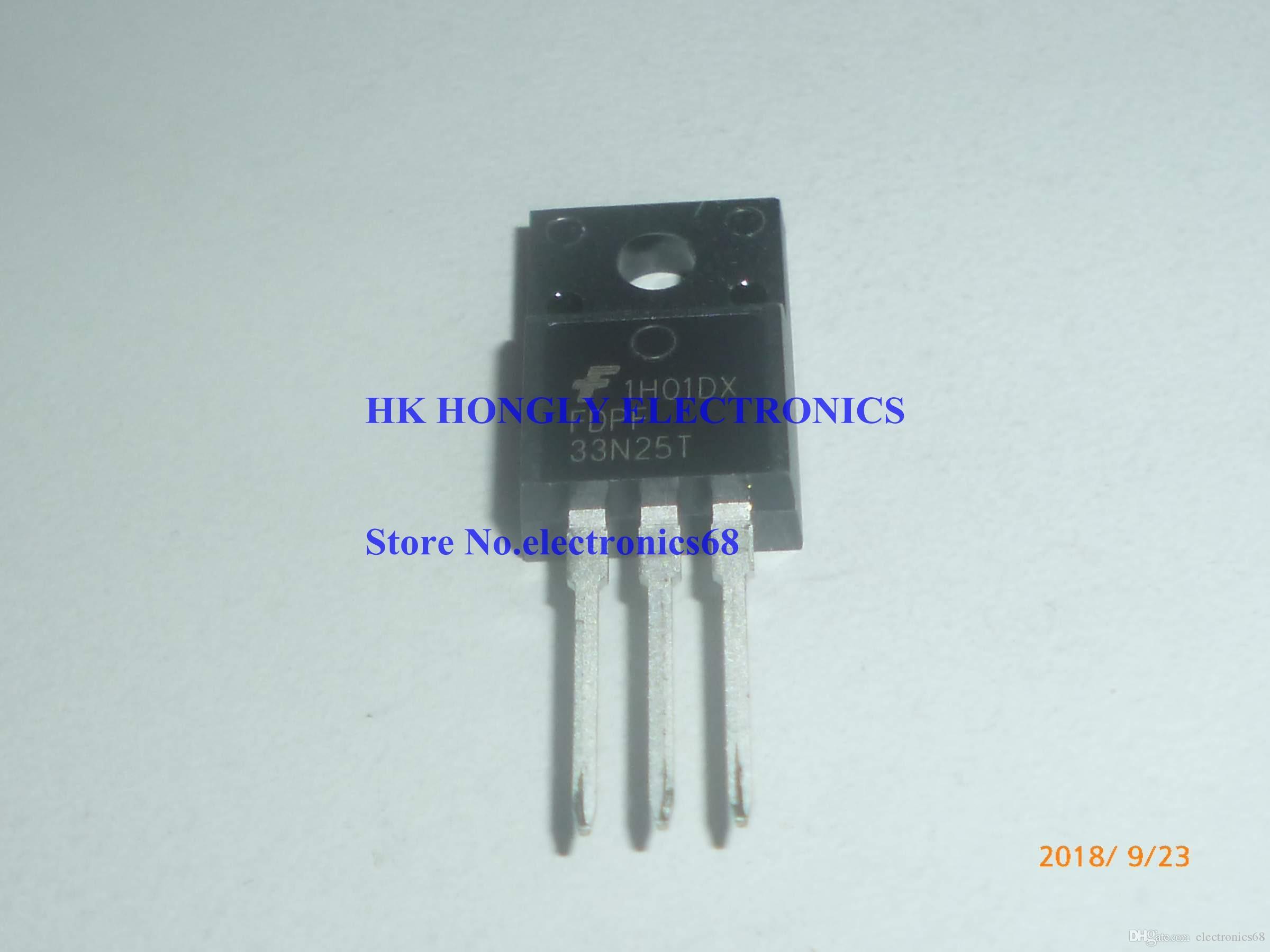 20PCS /LOT FDPF33N25T FDPF 33N25T TO-220F N-Channel MOSFET