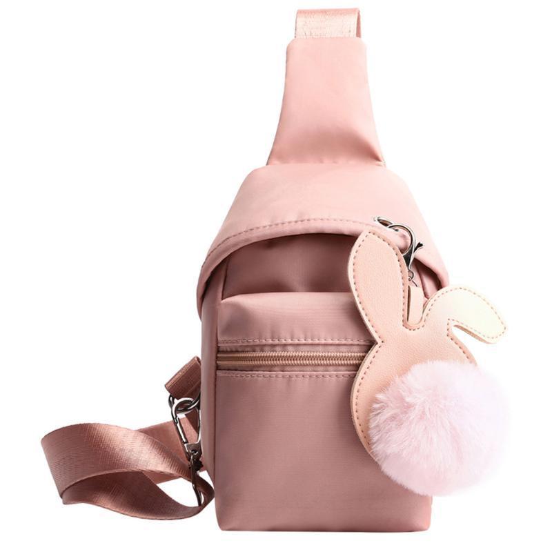 Crossbody Bag for Women 2020 Handbag Outdoor Nylon Hairball Zipper Messenger Bag Chest Waist Mini Purse Streetwear