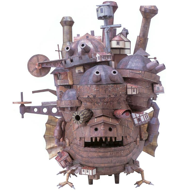 Howl's Moving Castle 3D Puzzles Paper Model Kits Assemble Jigsaw Adult Kids Gifts Toys Educational Handmade Cartoon Collection Y200413