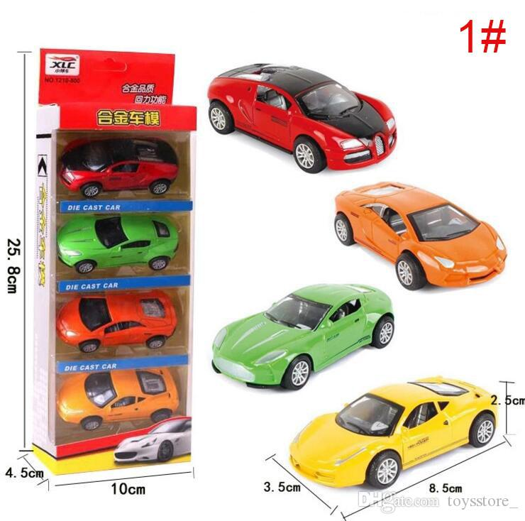 1:64 alloy car model simulation mini pull back car set Diecast Model Cars Children's educational toys