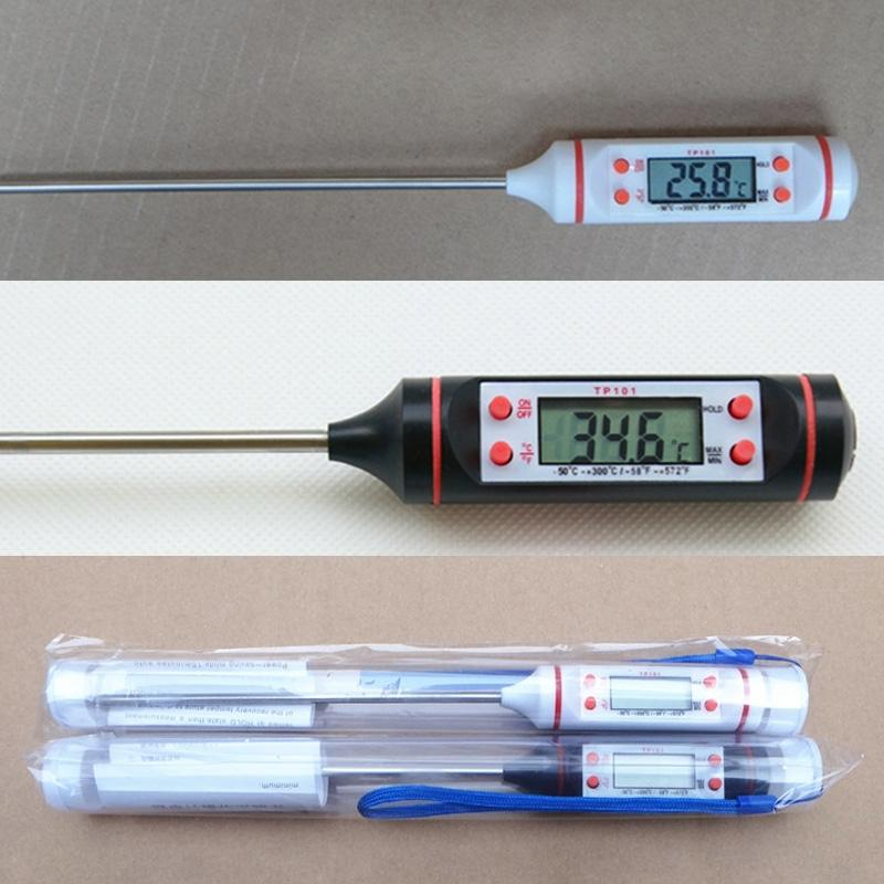 Meat Water Milk Kitchen Thermometer BBQ Electronic Cooking Temperature Gauges Household Merchandises Digital 1 Pcs Household Thermometers