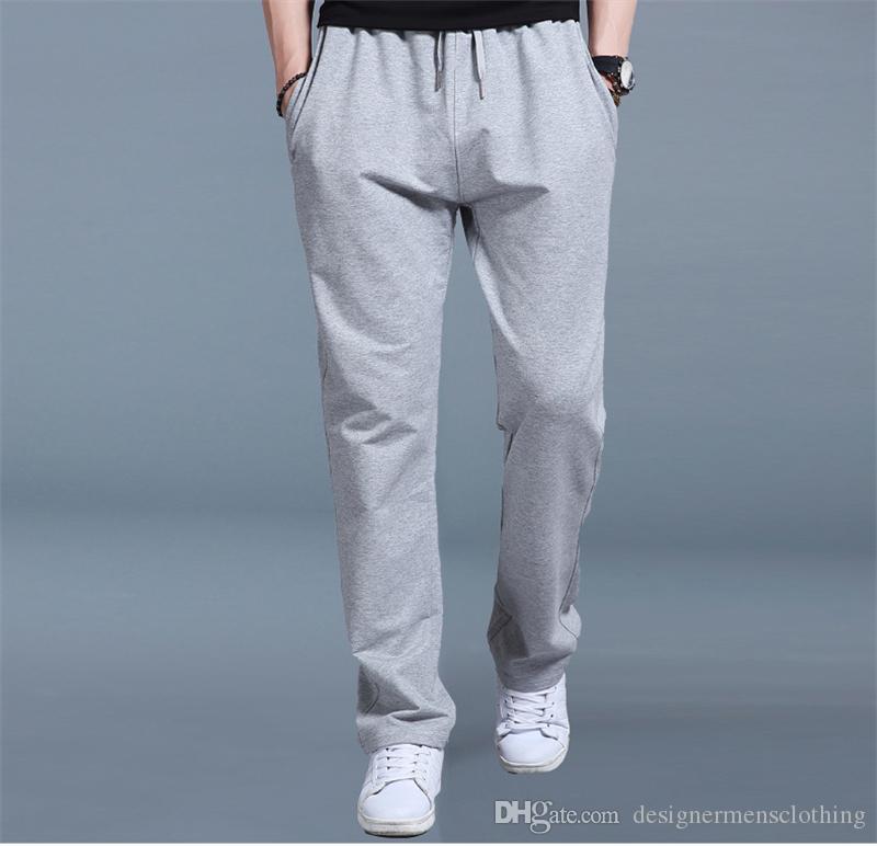 Solide Couleur taille Jupettes Mode Sport Pantalon taille mi Designer en vrac Crayon Pantalons Hommes Drawstring Pantalons