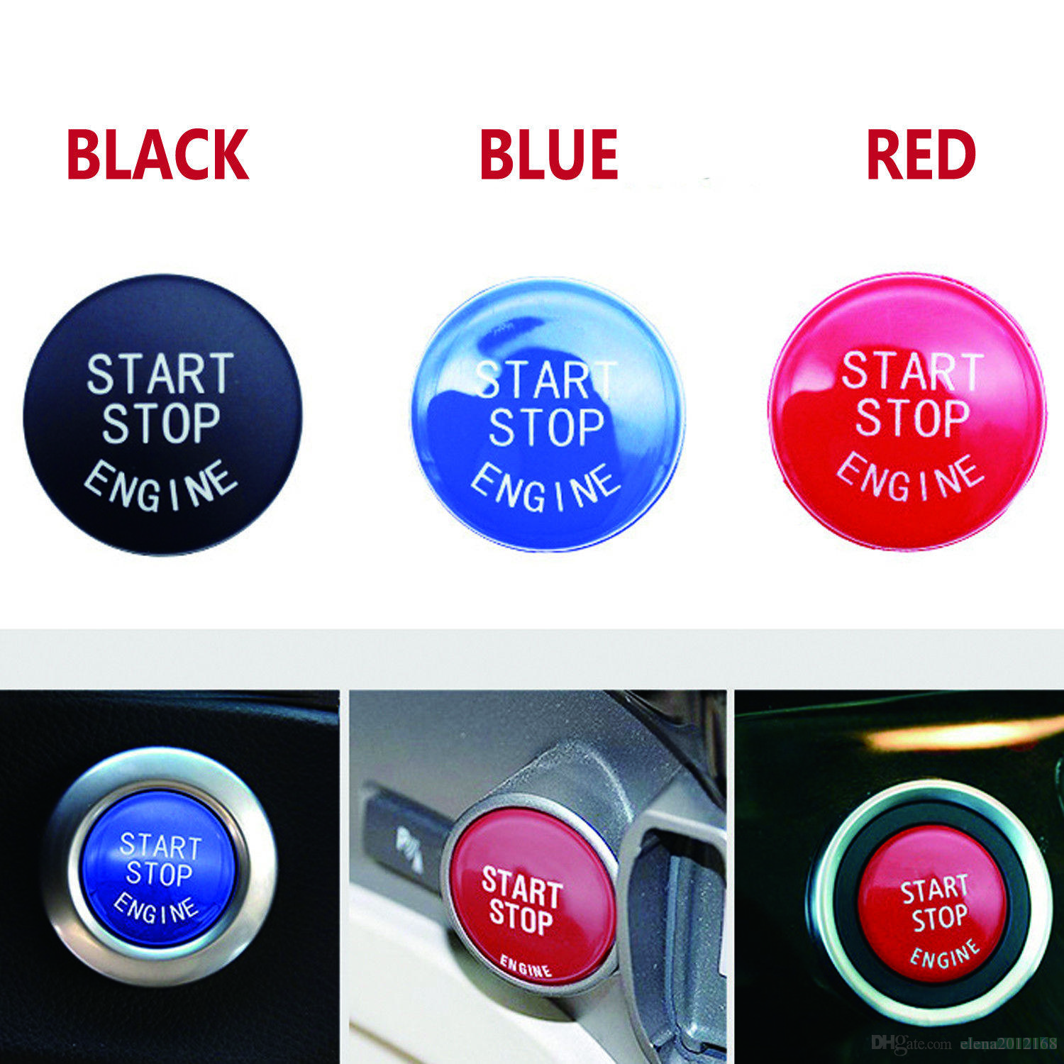 Engine Start Stop Switch Button Cover Blue Replace For BMW F20 F30 F10 F01 F25