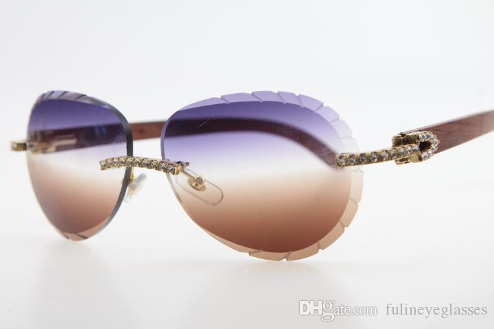 Gafas de sol Limited Shield Quality Diamond High C Female Mezcla de madera Rintaas y vendiendo Decoración masculina al por mayor Gafas de sol caliente 8200765 BBFUM