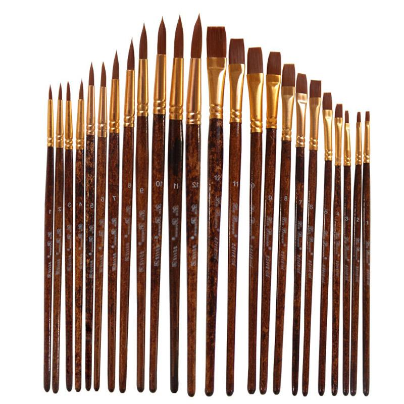 12Pcs Acrylic Oil Watercolour Painting brushes Arts Craft Tools Watercolor Pen Artist By Number Crafts Supplies Model Paint Brush Pen