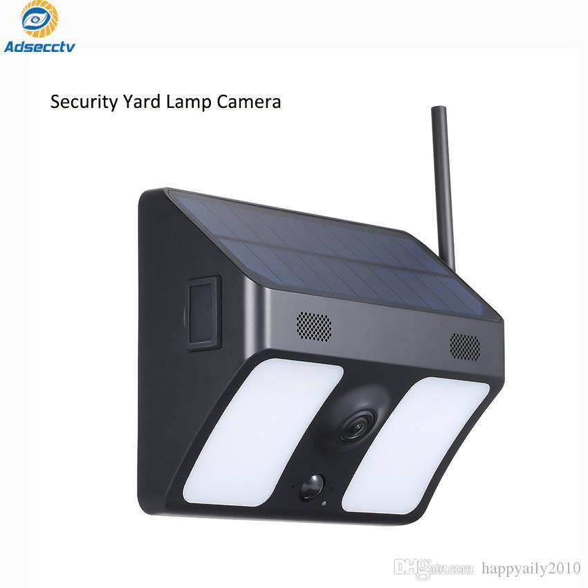 ساحة مصباح الطاقة الشمسية IP WIFI زاوية واسعة في الهواء الطلق الأمن كاميرا CCTV PIR كشف الحركة وبطاقة SD 2 صوت الطريق