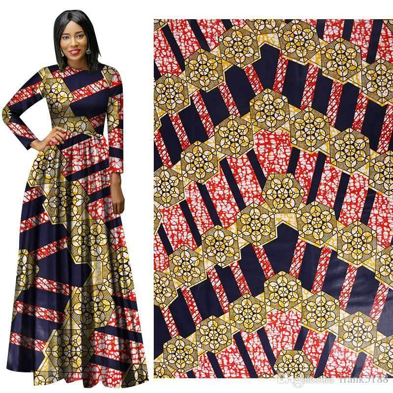 African Wax Print Fabric new Wax Hollandais Fabric Ankara African Batik 100% Breathable Cotton Dot Fabric free ship