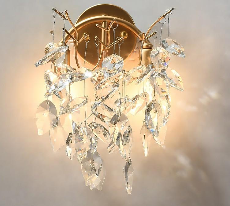 Nordic LED настенный светильник золотой кристалл настенный светильник гостиная украшения чердак коридор бра настенный светильник кухонные принадлежности LLFA