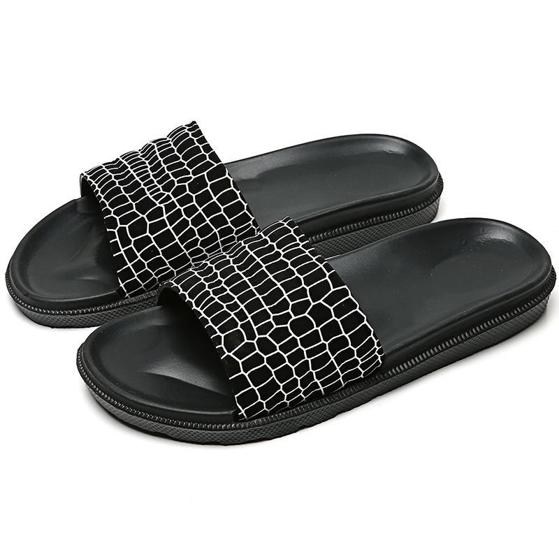 Летние тапочки Простые Мужчинам Слайды ванной Нескользящие Мягкое дно ПВХ сандалии Мужской Вьетнамки обувь