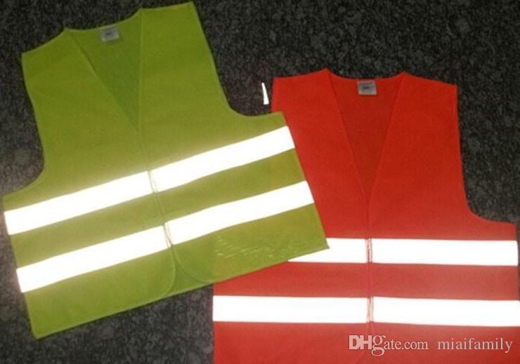 NUEVA Visibilidad de trabajo sobre seguridad chaleco para la construcción de advertencia de tráfico reflectante de trabajo chaleco verde reflexivo de la seguridad del tráfico Chaleco