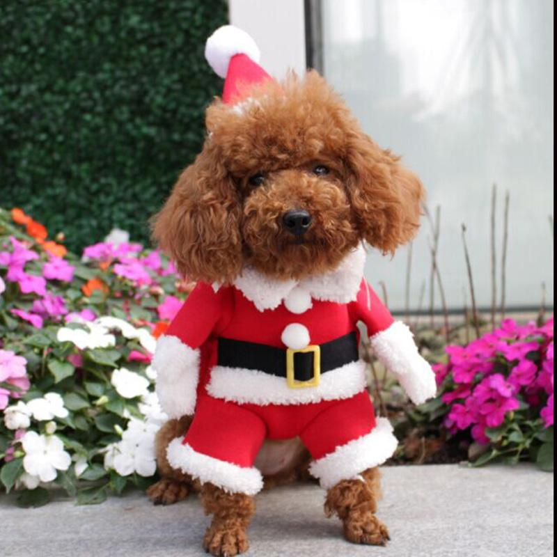 Christmas clothes pet dog coat cat costume for dogs cats winter warm dog clothes Chihuahua Pug yorkshire clothes