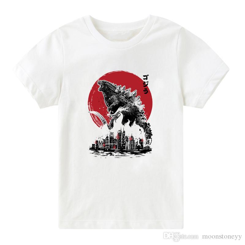 Japon çocuk T-shirt Yeni Varış 2019 Yaz Pamuk Komik Karikatür Erkek T Shirt Harajuku Çocuklar Giysi Tops