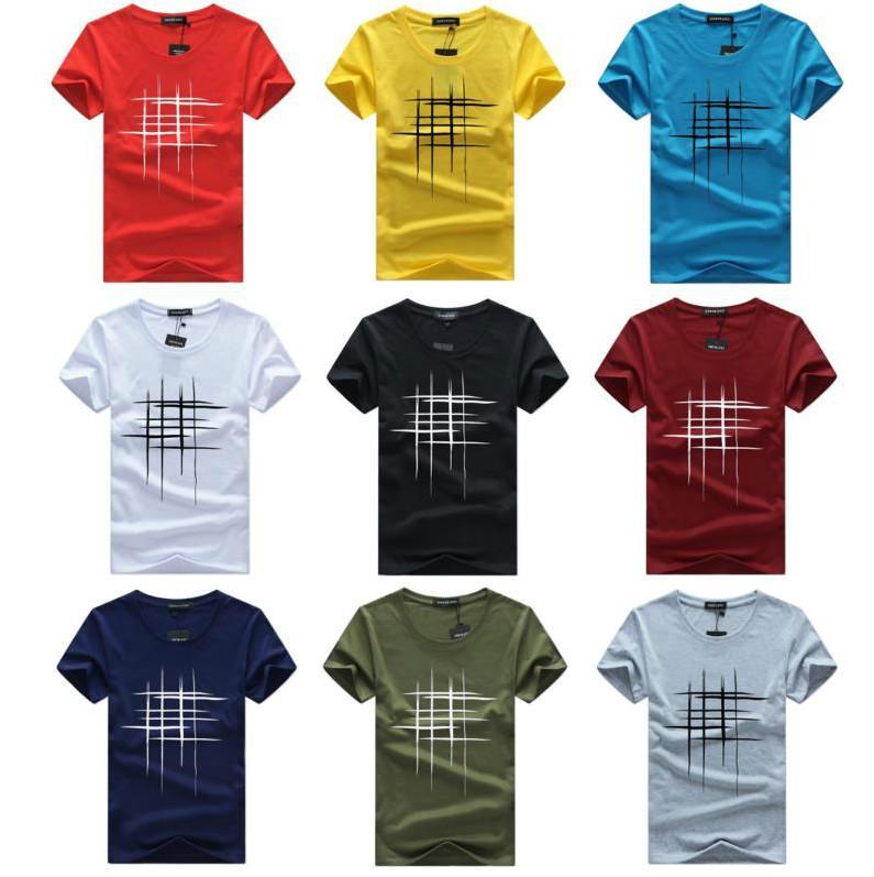 2020 do streetwear do estilo T-shirt Homens Chegada nova manga curta T-shirt listrados Imprimir respirável Tees Tops Juventude Casual Tamanho Vestuário Além disso,