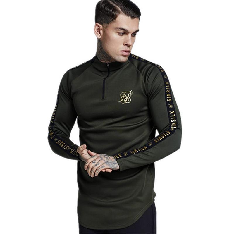 España Camisas Hombre Seda Camiseta Hombre Hip Hop Streetwear Camisetas TopS Gimnasios Camisa de hombre Fitness Sudadera Sikslik Camiseta masculina