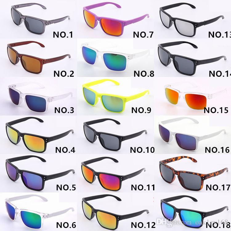 18 الألوان الفاخرة النظارات الشمسية UV400 حماية 9102 الظل الرياضة النظارات الشمسية الرجال النساء للجنسين الصيف نظارات في الهواء الطلق ركوب الدراجات زجاج أحد