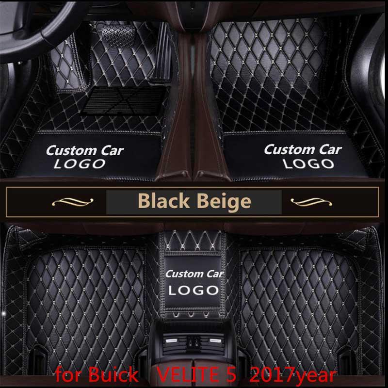 pour Buick Velite 5 2017 années épaulière pied non toxique tapis de pied de voiture