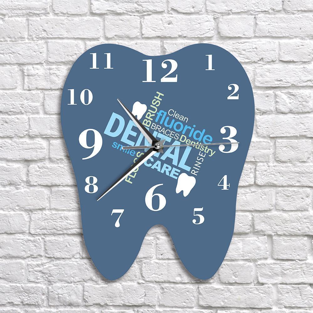 الكلمات الأسنان الأسنان على شكل ساعة الحائط طبيب الأسنان المهنية ستريت ووتش الديكور عيادة حلية الأسنان تقويم الأسنان وجراح هدية Y200407