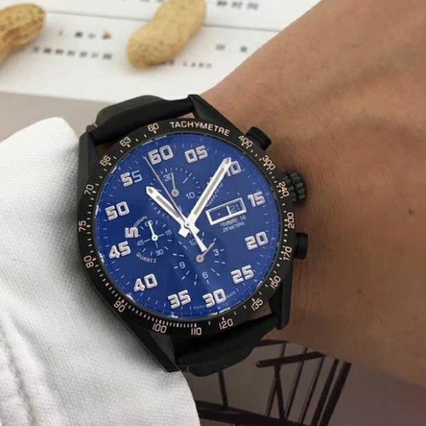 İkinci zamanlama dakika zamanlama kod paslanmaz çelik boğa deri kemer izle çoklu fonksiyon çalışan izlemek kuvars Erkek kol saati üst seviye kalite
