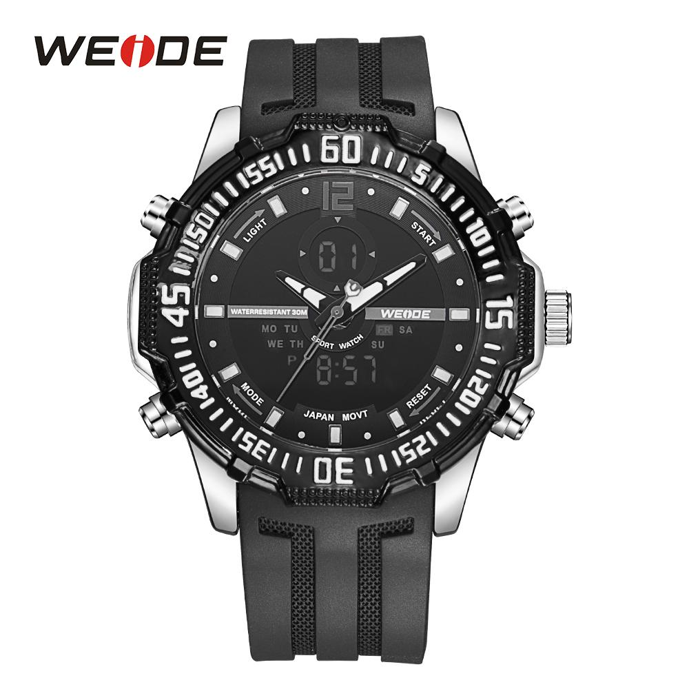 WEIDE Moda Erkek Spor Saatler Analog Dijital İzle Ordu Askeri Kuvars İzle Relogio Masculino İzle biri serbest tek satın almak