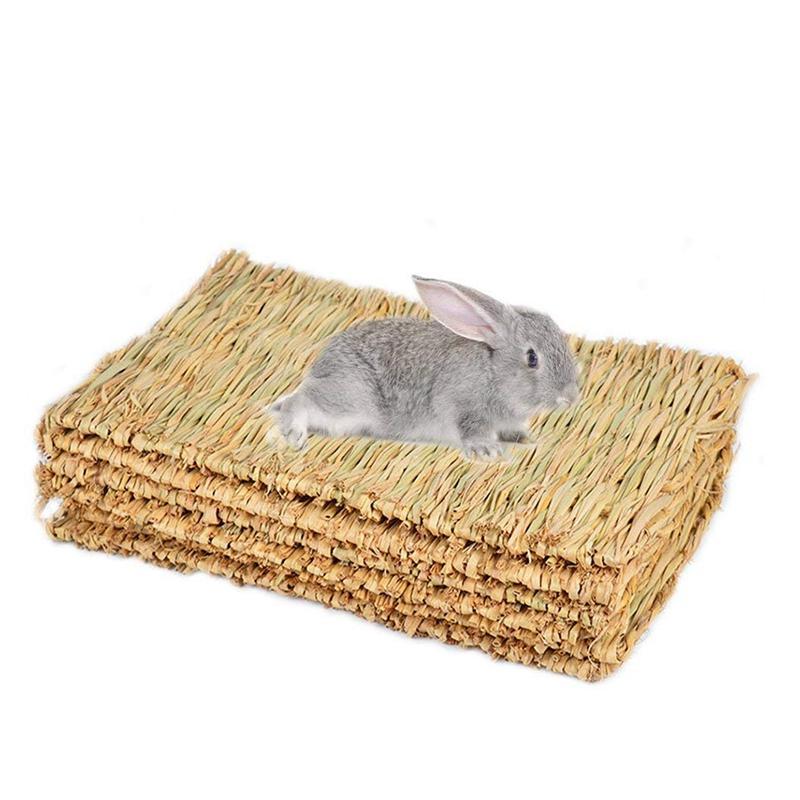 Coelho Mat, Grama Mats para coelhos, seguro comestíveis Coelho esteiras para gaiolas, Bunny Chew brinquedos para Coelhos
