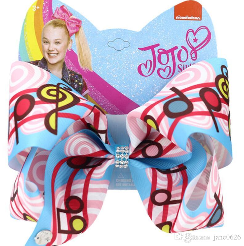 2020 nouveaux 8inch jojo Siwa clips cheveux filles notes de piano ojo arcs de Siwa cheveux des filles accessoires bébé Clip BB