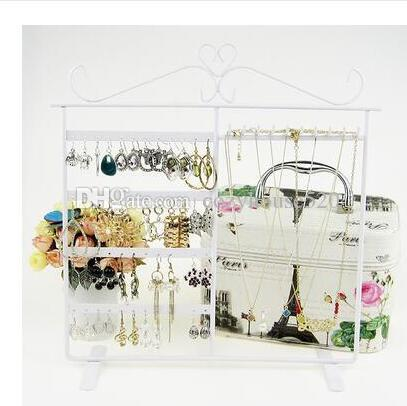 48 hole Jewelry Display Stand Holder Earring Display Stand Iron Wall Frame Necklace Holder Accessories Base Storage Dro 1pc C172