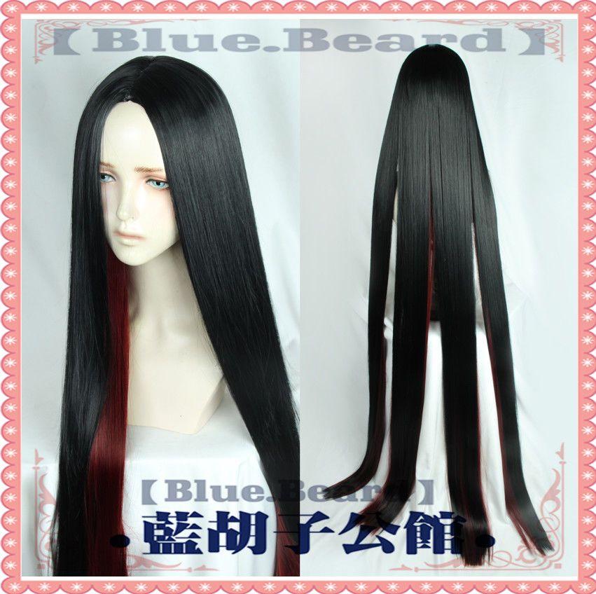 59inch Red Black Hair Land of the Lustrous Houseki no Kuni Bort Cosplay Wig +Cap