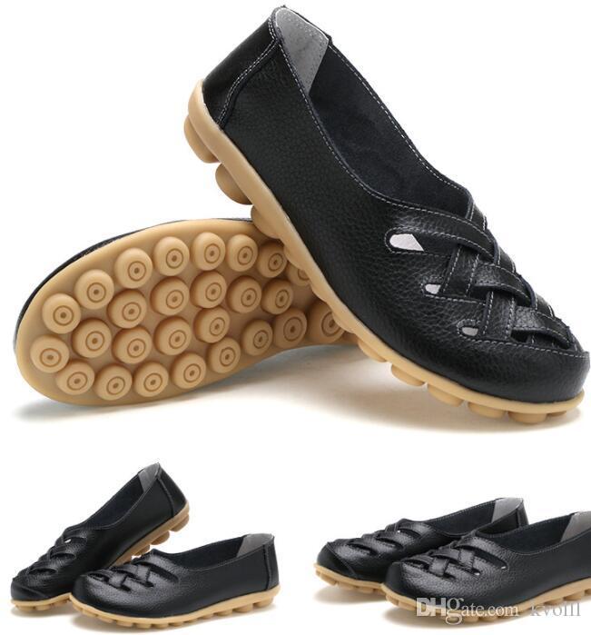 vendita calda regalo di madre delle donne scarpe casual sandali piani di anti scarpe da infermiere slittamento della spiaggia di estate Primavera scarpe cave 18 colori
