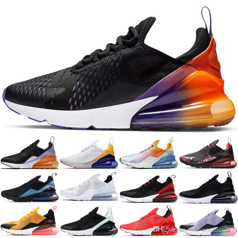 270OG stilisti Siyah Yaz Gradyan Womens Ayakkabı Üçlü Siyah Beyaz Gradient Gerileme Gelecek Gerçek Işık Kemik Sneakers Running Be Bred