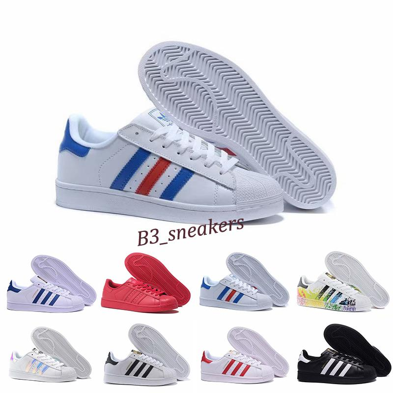 Adidas Superstar 80s 2020 Free Shipping Superstar White Black Pink Blue Gold Superstars 80s Pride Sneakers Super Star Women Sport Casual Shoes eu SZ36-45 B9