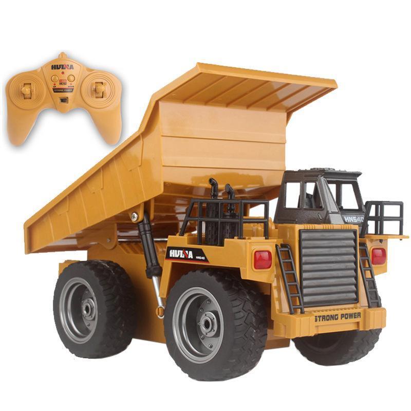 HN540 6 scanalature RC miniera di autocarro con cassone ribaltabile Ribaltabile giocattolo, pressofuso in lega di grande formato 01:16 ingegneria del veicolo, trasformare la luce, per Natale Kid Regalo di compleanno, 2-1