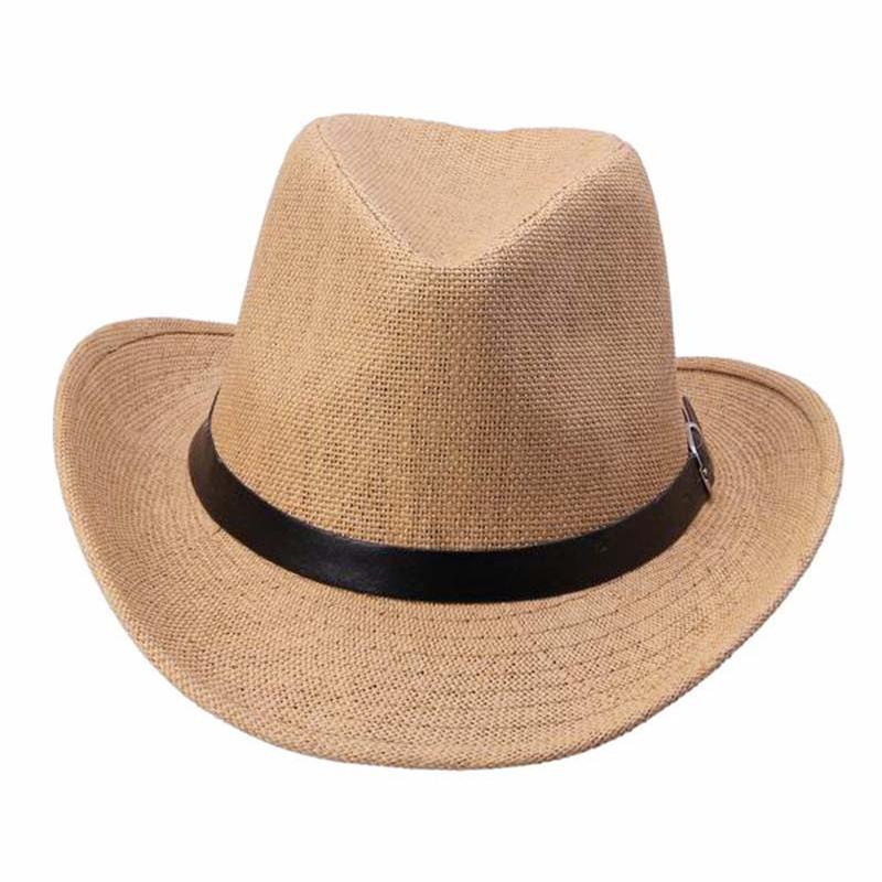 Fashion Straw Cowboy Autumn Summer Spring Sun Hat Cowboy Hat Men and Women Caps