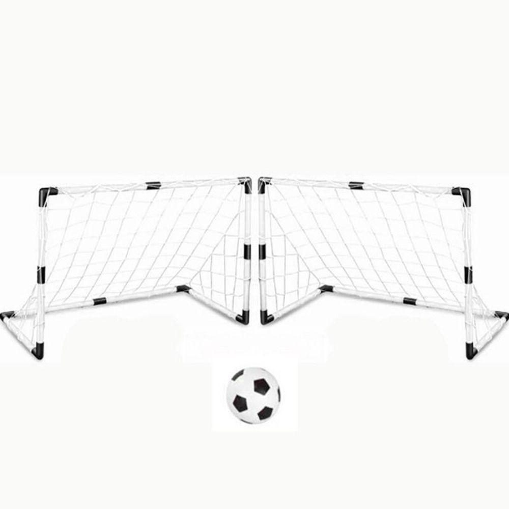 2 세트 축구 공 및 펌프 연습 DIY 어린이 스포츠 축구 목표 Scrimmage 게임 축구 게이트 아이들을위한 DIY 백색 선물