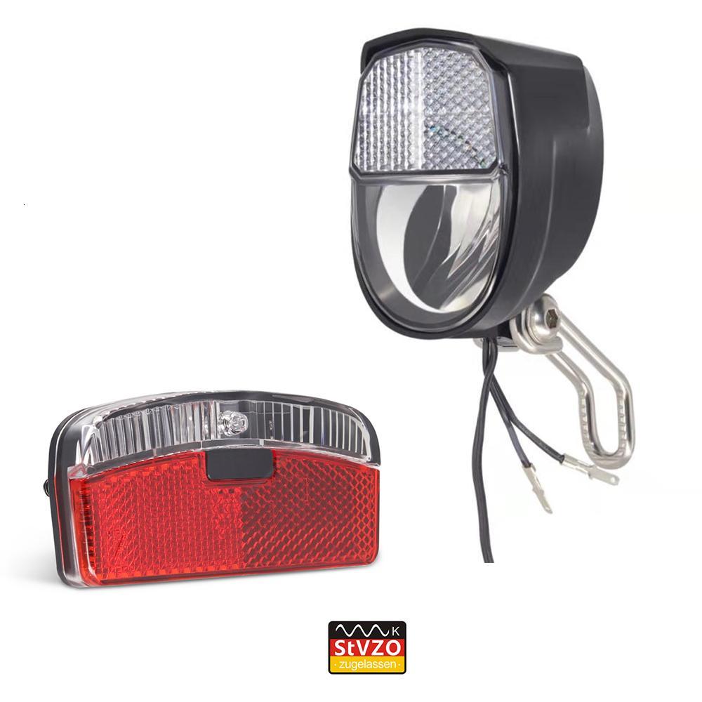 jeu de vélo Onature mis à jour avec parking HeadLight ont connecteur pour bicyclette LED arrière dynamo Y191211 lumière