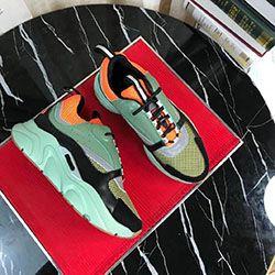 Черный B22 кроссовки телячьей Тренеры Классический черный Мужчины Женщины Плоский Canvas Sneaker ретро Лоскутная Luxury Casual Sneaker Оптовая 100381